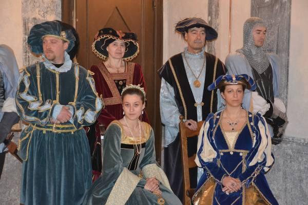 Alcuni figuranti del Gruppo Storico del Saluzzese